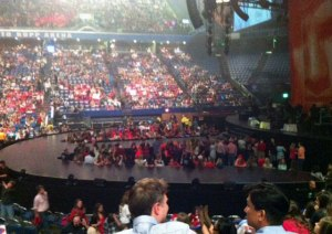 Ashlee's view of the pit. (Photo: Ashley.)